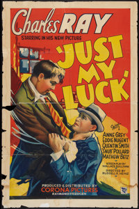 "Just My Luck (Corona, 1935). One Sheet (27"" X 41""). Comedy"