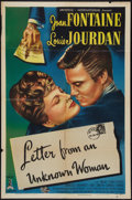 """Movie Posters:Drama, Letter from an Unknown Woman (Universal International, 1948). One Sheet (27"""" X 41""""). Drama.. ..."""