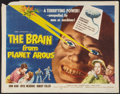 "Movie Posters:Science Fiction, The Brain from Planet Arous (Howco, 1957). Half Sheet (22"" X 28"").Science Fiction.. ..."