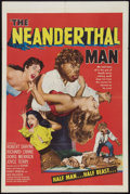 "Movie Posters:Horror, The Neanderthal Man (United Artists, 1953). One Sheet (27"" X 41"").Horror.. ..."