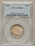 Twenty Cent Pieces, 1876 20C MS64 PCGS....