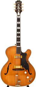 Musical Instruments:Electric Guitars, 1952 Epiphone Zephyr Deluxe Regent Natural Archtop Electric Guitar, #64278....