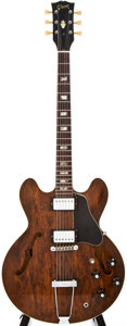 Musical Instruments:Electric Guitars, 1974-75 Gibson ES-335 TD Brown Semi-Hollow Body Electric Guitar,#503694....