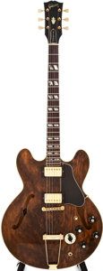 Musical Instruments:Electric Guitars, 1974-75 Gibson ES-345 TD Walnut Stain Semi-Hollow Body ElectricGuitar, #552555....