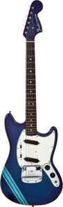 Musical Instruments:Electric Guitars, 1968 Fender Mustang Custom Color Blueburst Solid Body ElectricGuitar, #239388....