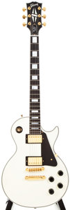 Musical Instruments:Electric Guitars, 1997 Gibson Les Paul Custom White Solid Body Electric Guitar,#90347477....