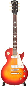 Musical Instruments:Electric Guitars, 1976 Gibson Les Paul Deluxe Cherry Sunburst Solid Body Electric Guitar, #00131268....