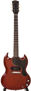 Musical Instruments:Electric Guitars, 1964 Gibson SG Junior Cherry Solid Body Electric Guitar, #222438....
