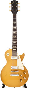 Musical Instruments:Electric Guitars, 1973 Gibson Les Paul Deluxe Gold Top Solid Body Electric Guitar,#135787....