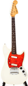 Musical Instruments:Electric Guitars, 1966 Fender Mustang Olympic White Solid Body Electric Guitar,#171164....