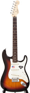 Musical Instruments:Electric Guitars, 2006 Stratocaster 60th Diamond Anniversary Sunburst Solid BodyElectric Guitar, #Z6014835....