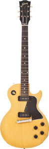 Musical Instruments:Electric Guitars, 1957 Gibson Les Paul Special TV Yellow Solid Body Electric Guitar,#70189....