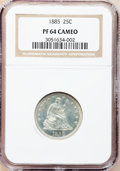 Proof Seated Quarters, 1885 25C PR64 Cameo NGC....