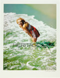 Movie/TV Memorabilia:Photos, Marilyn Monroe Red Suit in Surf Limited Edition DigitalPrint by Richard C. Miller....