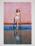 Movie/TV Memorabilia:Photos, Marilyn Monroe Toe In Pool Limited Edition Digital Print byRichard C. Miller....