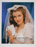 Movie/TV Memorabilia:Photos, Marilyn Monroe Wedding Dress Limited Edition Digital Print by Richard C. Miller....