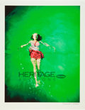 Movie/TV Memorabilia:Photos, Marilyn Monroe Floating in Pool Limited Edition DigitalPrint by Richard C. Miller....