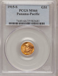 Commemorative Gold, 1915-S G$1 Panama-Pacific Gold Dollar MS66 PCGS....