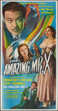 """Movie Posters:Fantasy, The Spiritualist (Eagle Lion, 1948). Three Sheet (41"""" X 81"""").Fantasy. Also known as The Amazing Mr. X.. ..."""