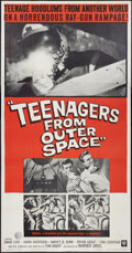 "Movie Posters:Science Fiction, Teenagers from Outer Space (Warner Brothers, 1959). Three Sheet(41"" X 81""). Science Fiction.. ..."