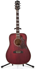 Musical Instruments:Acoustic Guitars, 1970s Ibanez Concord Wine Red Acoustic Guitar #C780348...