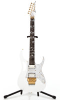 Musical Instruments:Electric Guitars, 1998 Ibanez Jem White Solid Body Electric Guitar #F9830047...