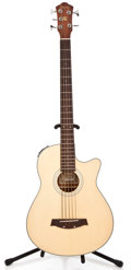 Musical Instruments:Bass Guitars, Recent Ibanez AEB305 Natural Acoustic 5-. String Bass Guitar #1084031...