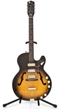 Musical Instruments:Acoustic Guitars, 1960s Harmony Rocket Sunburst Archtop Electric Guitar #4224...
