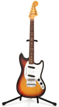 Musical Instruments:Electric Guitars, 1974 Fender Mustang Sunburst Solid Body Electric Guitar #545114...