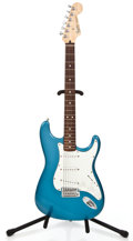 Musical Instruments:Electric Guitars, 1990 Fender Stratocaster MIM Lakeplacid Blue Solid Body ElectricGuitar #MN012697...