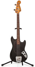 Musical Instruments:Electric Guitars, 1976 Fender Mustang Bass Black Electric Bass Guitar #631282...