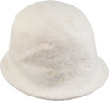 Movie/TV Memorabilia:Costumes, Judy Garland's White Felt Hat....