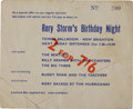 Music Memorabilia:Tickets, Beatles Performing at Rory Storm's Birthday Night ConcertTicket....