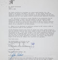 Movie/TV Memorabilia:Autographs and Signed Items, Gilda Radner Signed Agreement....