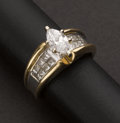 Estate Jewelry:Rings, Marquise Diamond Ring. ...
