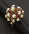 Estate Jewelry:Rings, Pearl & Ruby Ring. ...