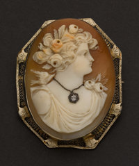 Large Shell Cameo