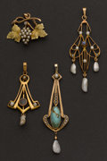 Estate Jewelry:Pendants and Lockets, Four Antique Drops. ... (Total: 4 Items)