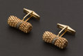 Estate Jewelry:Cufflinks, Rose Gold & Diamond Cufflinks. ...