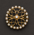 Estate Jewelry:Brooches - Pins, Pearl & Diamond Brooch/Pendant. ...