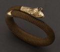 Estate Jewelry:Bracelets, Rare Braided Hair & Gold Snake Bracelet. ...