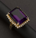 Estate Jewelry:Rings, Amethyst & Gold Ring. ...