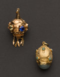 Estate Jewelry:Other , Two Antique Gold Fobs. ... (Total: 2 Items)