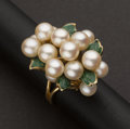 Estate Jewelry:Rings, Pearl, Gold & Enamel Ring. ...