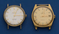 Timepieces:Wristwatch, Two - Omegas Automatic Wristwatches Runners. ... (Total: 2 Items)