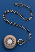 Timepieces:Pocket (post 1900), Waltham 14 Size Irish Market Sterling Demi-Hunter Pocket Watch WithChain. ...