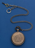 Timepieces:Pocket (pre 1900) , Russian Market .875 Key Wind Pocket Watch With Metal Chain. ...