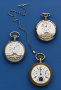 Timepieces:Pocket (post 1900), Three - Swiss Pocket Watches For Parts . ... (Total: 3 Items)