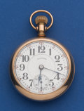 Timepieces:Pocket (post 1900), Illinois 21 Jewel 18 Size Bunn Special Brother Hood Case PocketWatch. ...