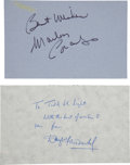 Movie/TV Memorabilia:Autographs and Signed Items, Marlon Brando and Douglas Fairbanks Jr. Autographs.... (Total: 2 )